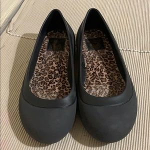 Crocs Black Ballet Flats Excellent Condition